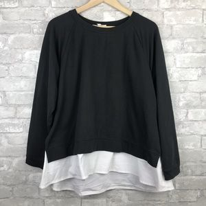 Two by Vince Camuto | Sweatshirt w/ Blouse Black